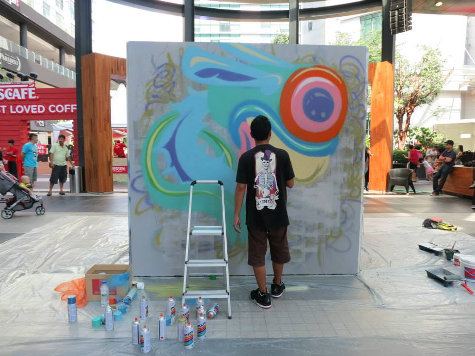 Projects fuman art for Mural 1 malaysia