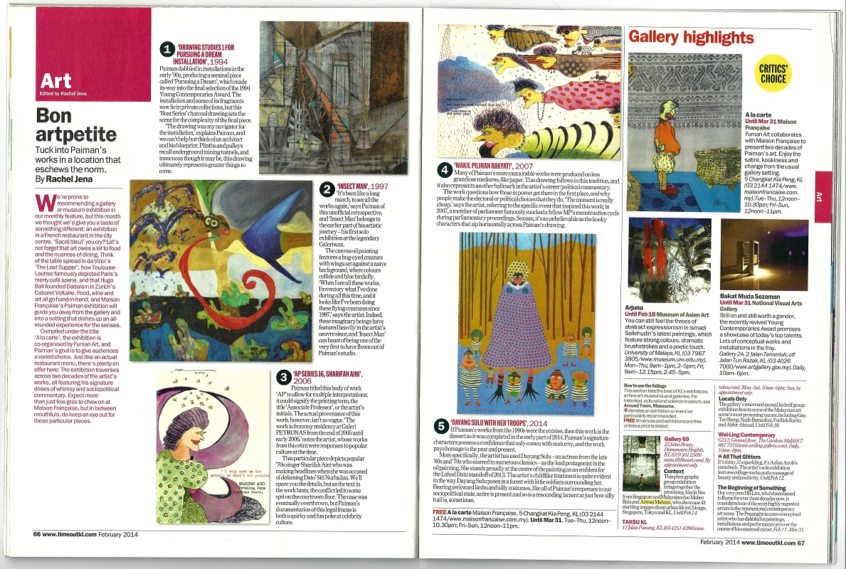 'A la carte' featured in TimeOut KL magazine