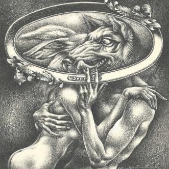 Aoi Fujimoto 01 - drawing - 1971 - The wolf