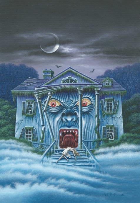 Aoi Fujimoto 05 - painting - 2000 - Haunted house