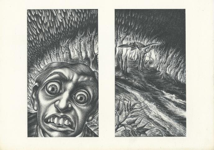 Aoi Fujimoto 08 -drawing- 1970's - The terrified man