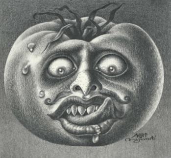 Aoi Fujimoto 09 - drawing - 1970's - Tomato head