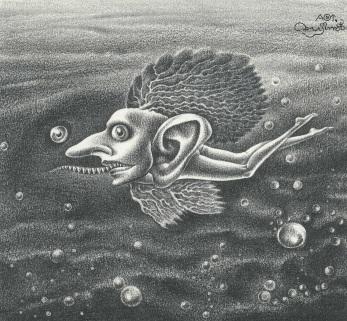 Aoi Fujimoto 10 - drawing - 1970's - Sea leprechaun