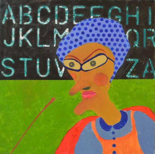Azizan Paiman - Oil on canvas - 2014 - Dasar Pendidikan Negara
