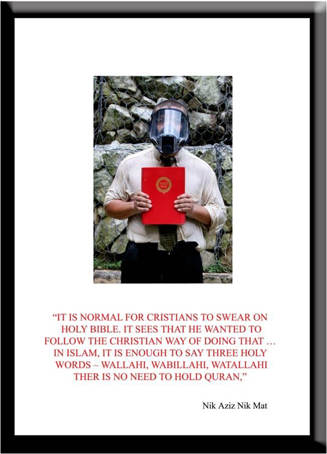 Azizan Paiman - monoprint - 2007 - Cleansing Ritual - Nik Aziz - lg