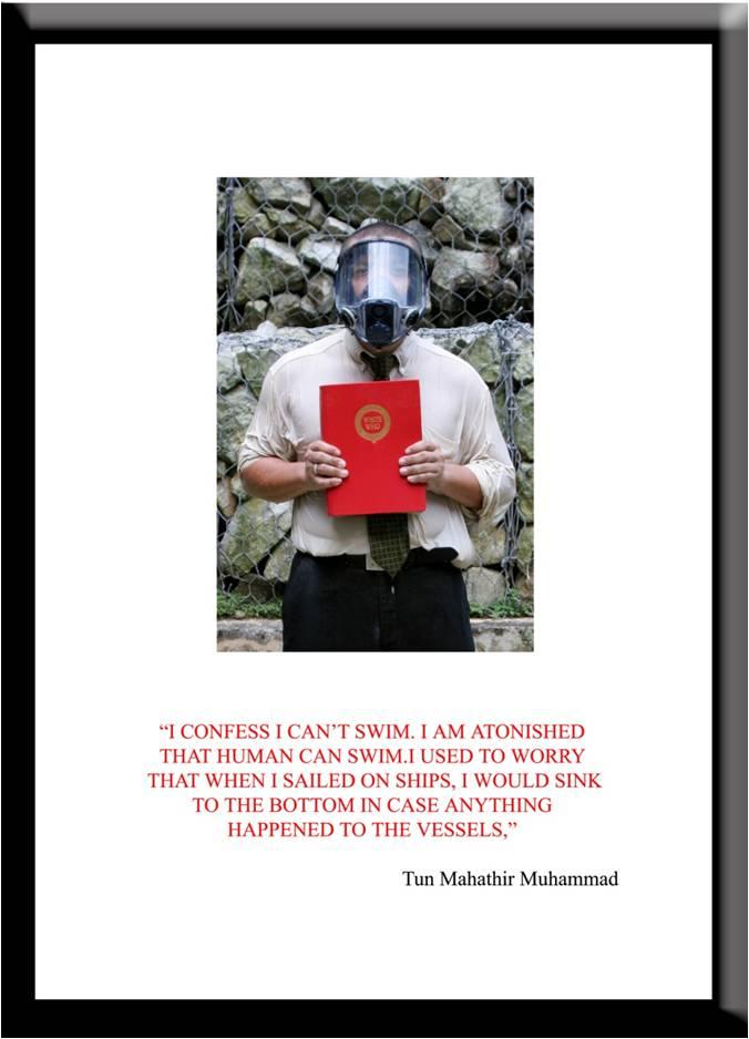 Azizan Paiman - monoprint - 2007 - Cleansing Ritual - Tun Mahathir - lg