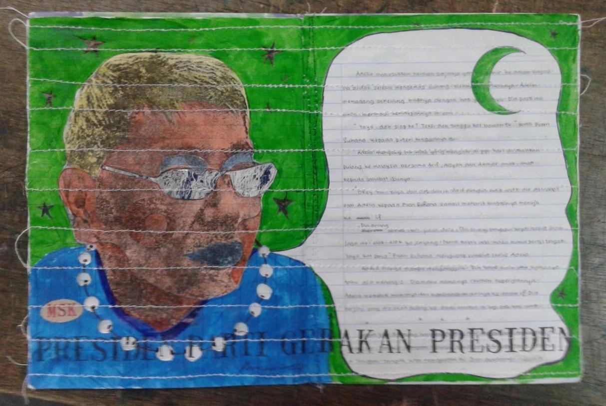 Azizan Paiman - painting - 2014 - mm paper - HA - Presiden Gerakan