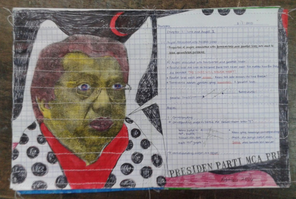 Azizan Paiman - painting - 2014 - mm paper - HA - Presiden MCA