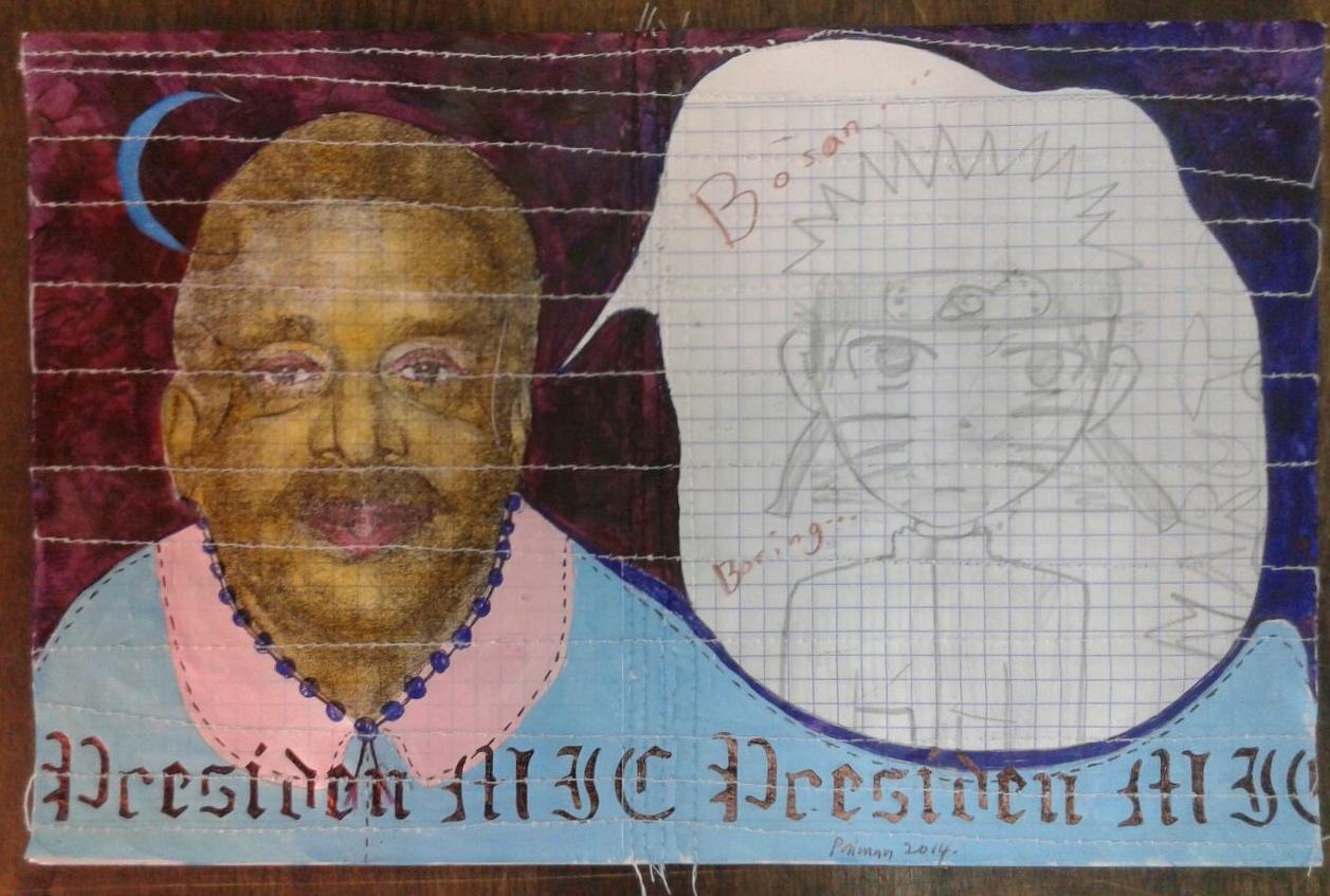 Azizan Paiman - painting - 2014 - mm paper - HA - Presiden MJC