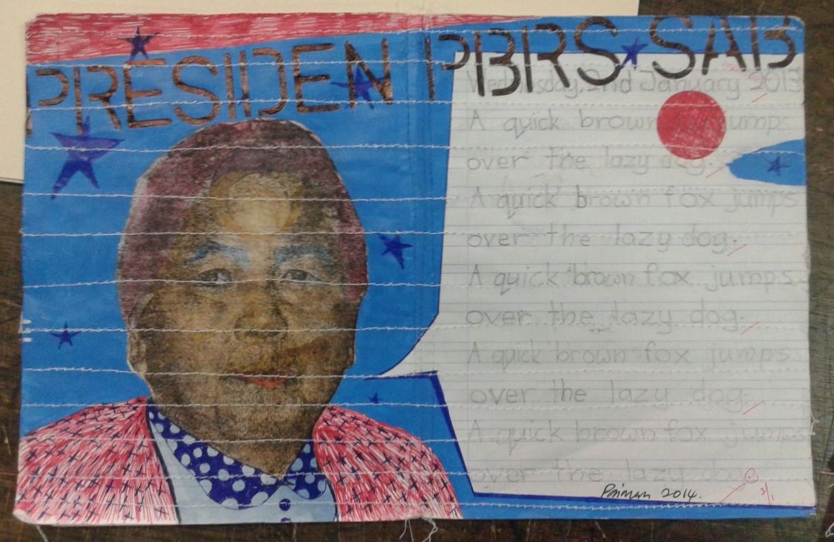 Azizan Paiman - painting - 2014 - mm paper - HA - Presiden PBRS