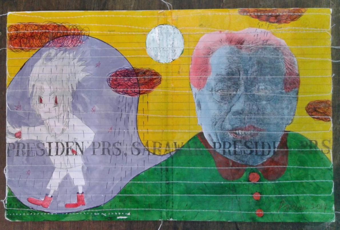 Azizan Paiman - painting - 2014 - mm paper - HA - Presiden PRS