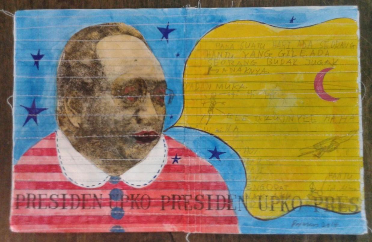 Azizan Paiman - painting - 2014 - mm paper - HA - Presiden UPKO
