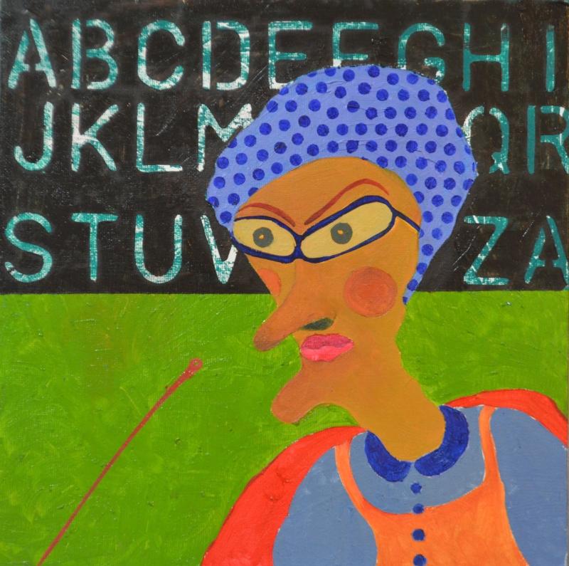 Azizan Paiman - painting - 2014 - oil canvas - AB40 - Dasar Pendidikan Negara