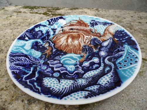 Blanquet - artwork - 2015 - porcelain - plate N°1