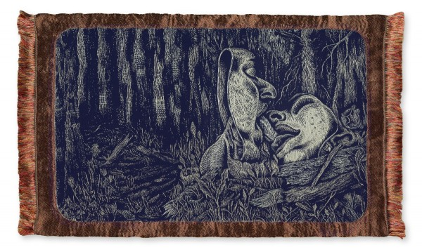 Blanquet - artwork - 2015 - tapestry - Le Baiser - lg