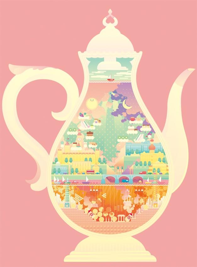 Takuya Kuriyama - 2010 - Print - Tea pot