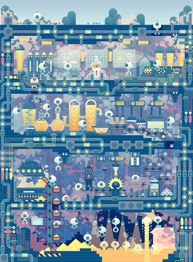 Takuya Kuriyama - Print on paper - 2013 - Robots