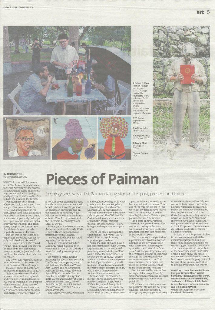 Pieces of Azizan Paiman