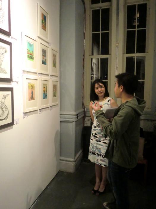 Fuman Art - Cutlog new york 2014 Hsien Huey with customer