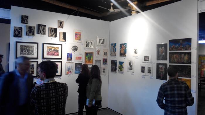 Fuman Art - Cutlog new york 2014 opening night crowd 2