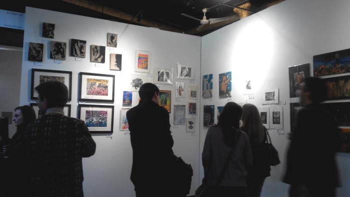 Fuman Art - Cutlog new york 2014 opening night crowd