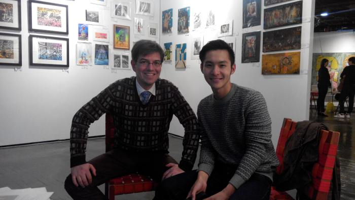 Fuman Art - Cutlog new york 2014 with Desmond Cheng