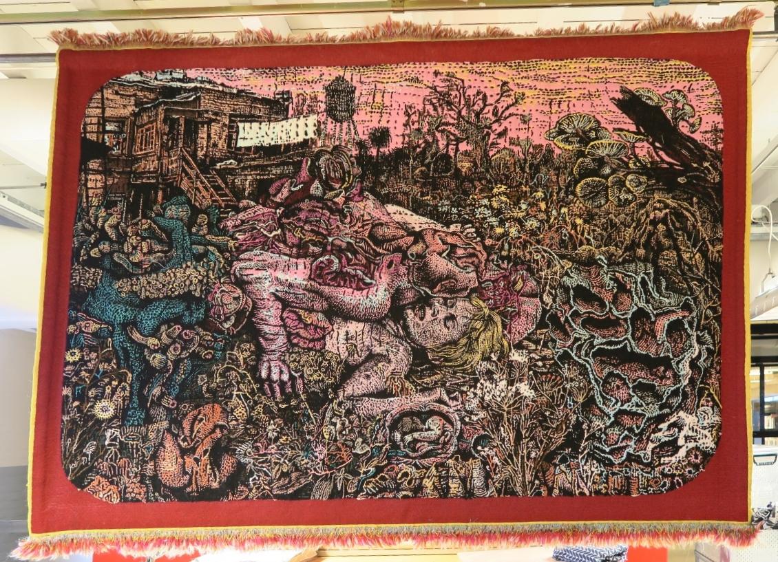 Stéphane Blanquet . Cuirs de l'Aurore à Demi-Feutré . tapestry . 2016