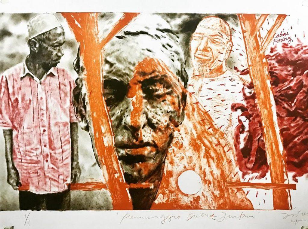 Jalaini Abu Hassan - Penunggu Busut Jantan - 2018 - Unique lithographic print